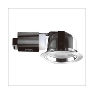 Downlight with glass cover white