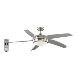 "ENVIROFAN T6 BRUSHED NICKEL 52"" 130cm"