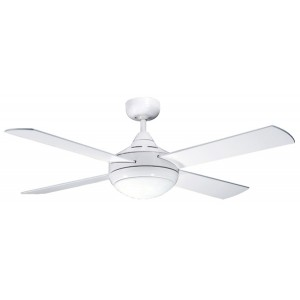 "PRIMO 48"" 120CM WHITE CEILING FAN W/LIGHT"