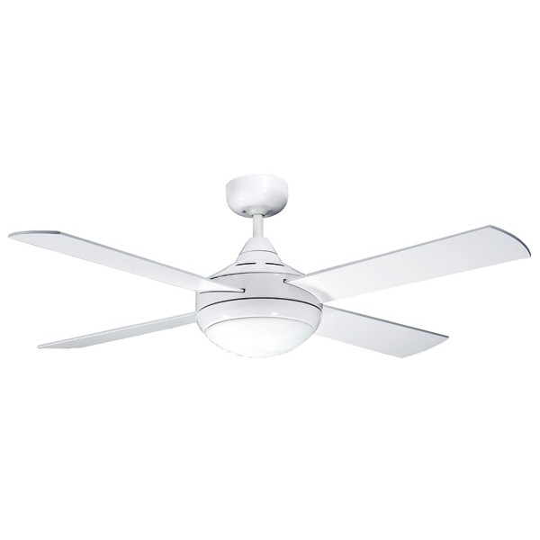 Primo 48 Quot 120cm White Ceiling Fan W Light North Lakes Electrical