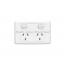 Clipsal 2000 ser. double power outlet 10Amp