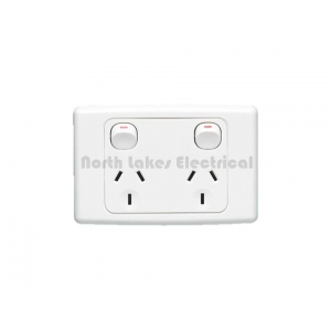 10Amp Clipsal 2000 series double power outlet