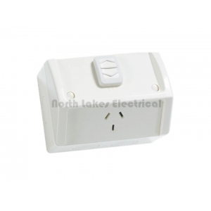 10Amp Clipsal weather protected single power outlet