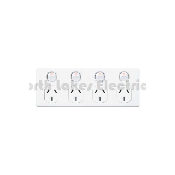 10amp clipsal classic 4 gang power outlet