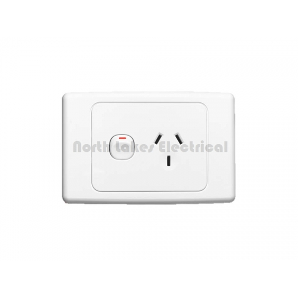 10amp clipsal 2000 series single power outlet