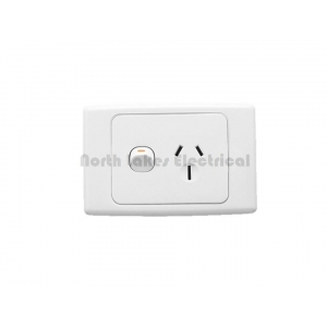 15Amp Clipsal 2000 series single power outlet