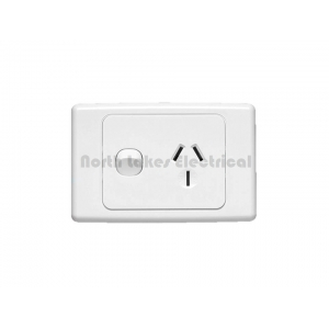 20Amp Clipsal 2000 series single power outlet