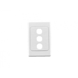 3 gang Clipsal 2000 series switch plate