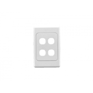 4 gang Clipsal 2000 series switch plate