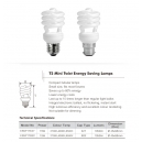 CFL mini twist 15W BC warm white