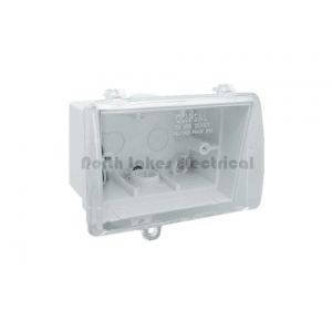 Weather protected enclosure with clear lid