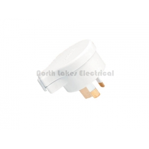 3 pin 10A plugtop  side entry white