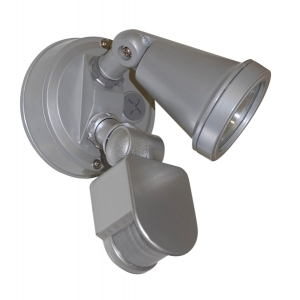 Single security light G9 silver