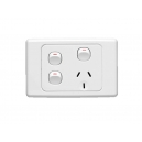 Clipsal socket outlet with 2 switches North Lakes Electrical