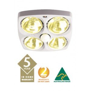 3 in 1 IXL Tastic Bathroom Lights 4 heat lamps